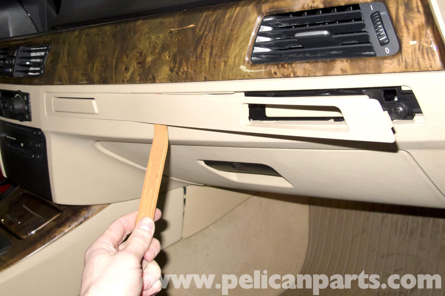 E90 Fuse Box Removal : Bmw e glove box replacement pelican