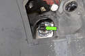 Disconnect headlight electrical connector by pulling straight off.