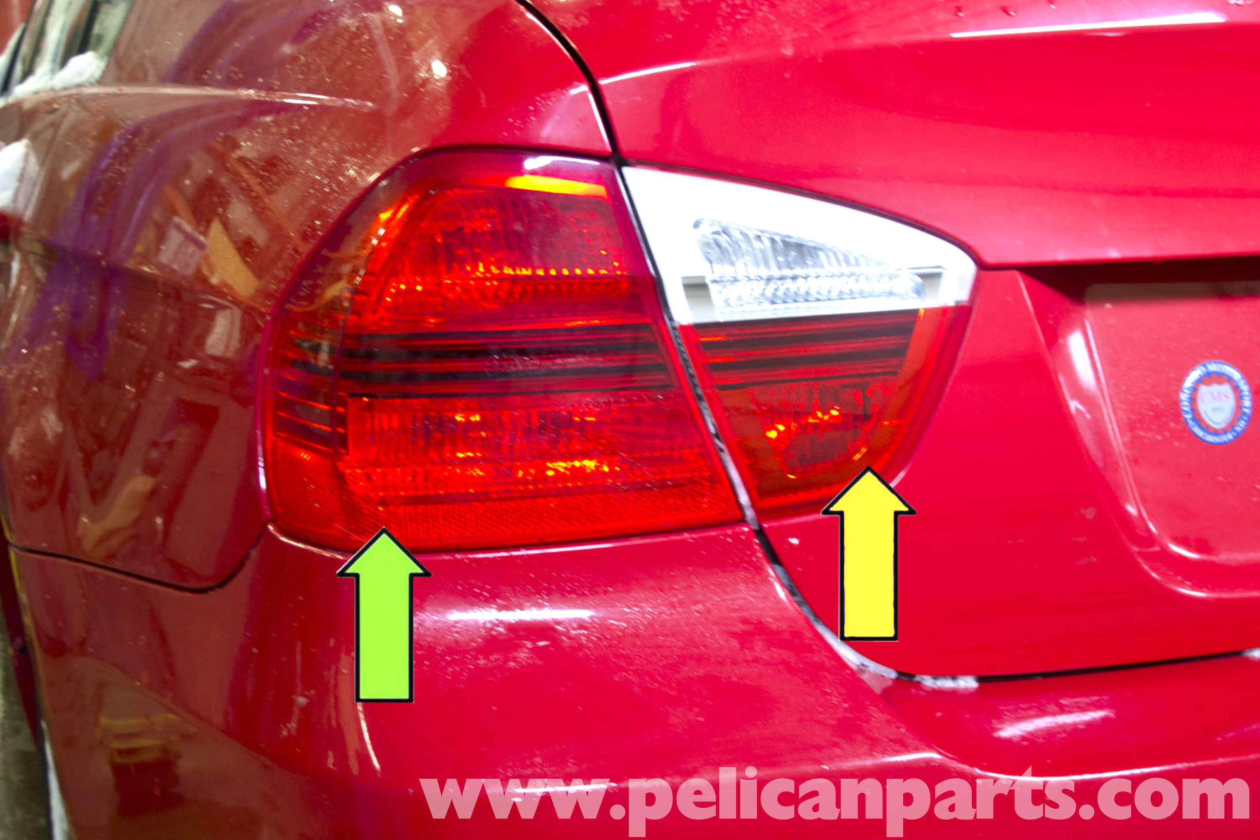 Bmw e90 tail light replacement e91 e92 e93 pelican parts diy large image extra large image aloadofball Image collections