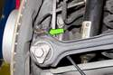 If sensor does not slide out easily, lever out using a flathead screwdriver (green arrow).