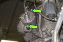 Next, using a 7mm Allen bit, remove brake caliper mounting fasteners.