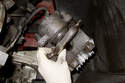 Remove brake pads from brake caliper.
