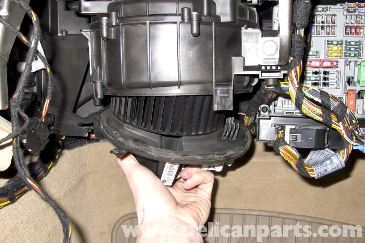 bmw e90 blower motor replacement e91 e92 e93 pelican parts large image