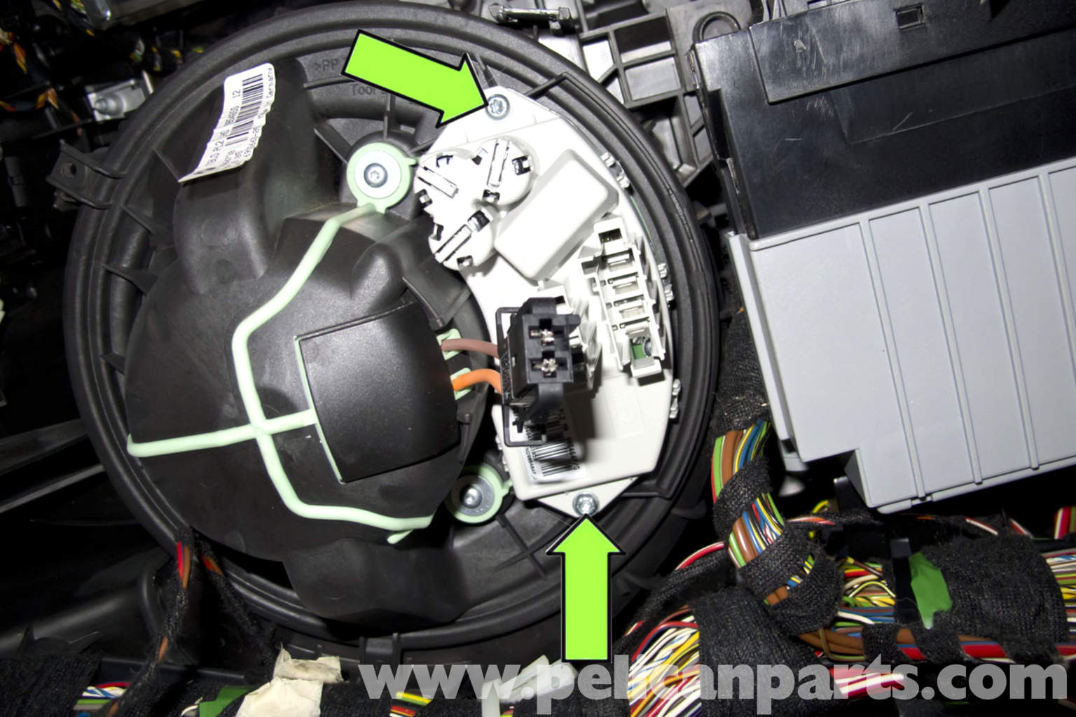 BMW E90 Blower Motor Replacement   E91  E92  E93   Pelican Parts DIY Maintenance Article