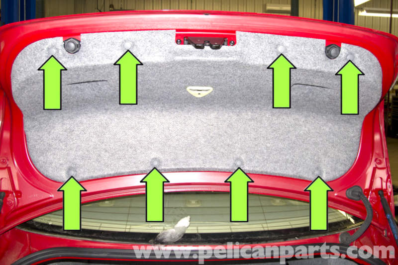 bmw e90 rear light replacement e91 e92 e93 pelican parts diy next you will have to remove part of the trunk lid trim