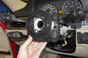 Then, pull turn signal switch forward and remove from steering column.