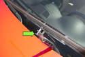 Next, rotate wiper blade 90ÃÆ''°, then slide wiper blade off wiper arm (green arrow).