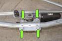 Next remove four 10mm wiper motor fasteners.