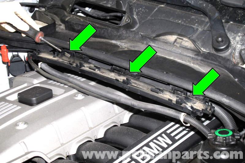 bmw e90 engine cover removal e91 e92 e93 pelican parts diy rh pelicanparts com BMW E92 BMW E90 Problems