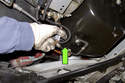 Clean area around oil condition sensor thoroughly.