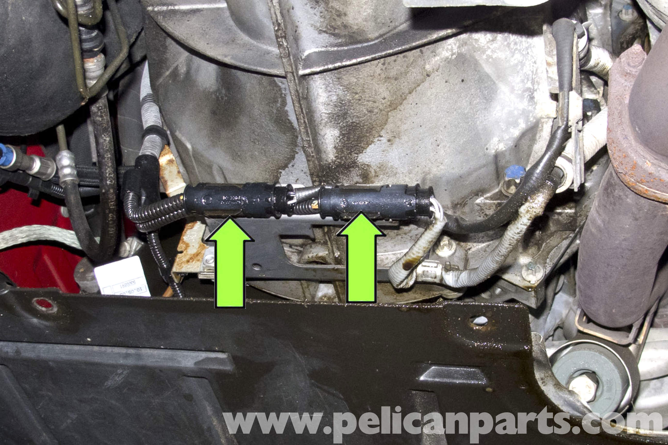 pic06 bmw e90 oxygen sensor replacement e91, e92, e93 pelican parts 2008 BMW 335I Fuse Box Diagram at crackthecode.co