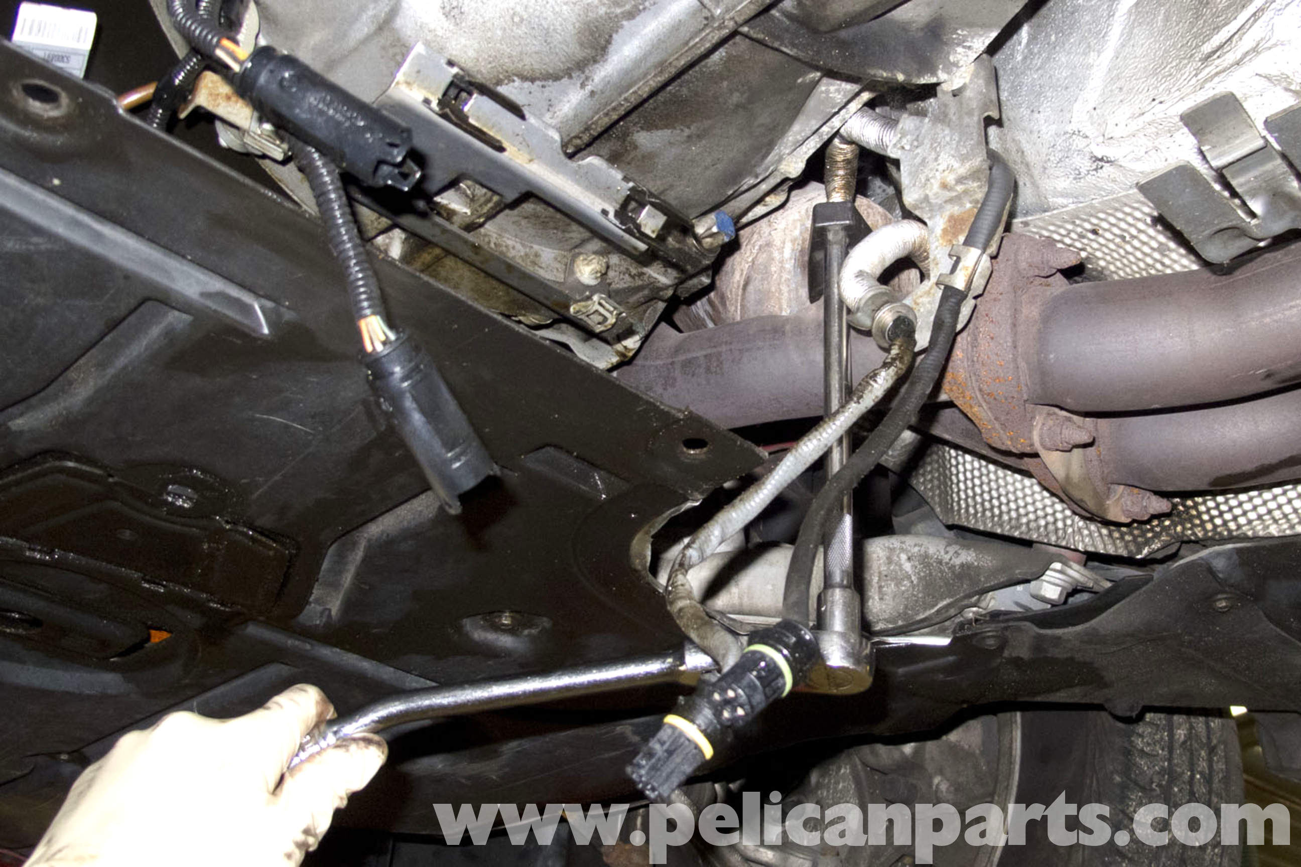 pic08 bmw e90 oxygen sensor replacement e91, e92, e93 pelican parts 2008 BMW 335I Fuse Box Diagram at crackthecode.co