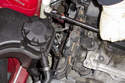 Using an oxygen sensor socket, remove oxygen sensor from exhaust manifold.