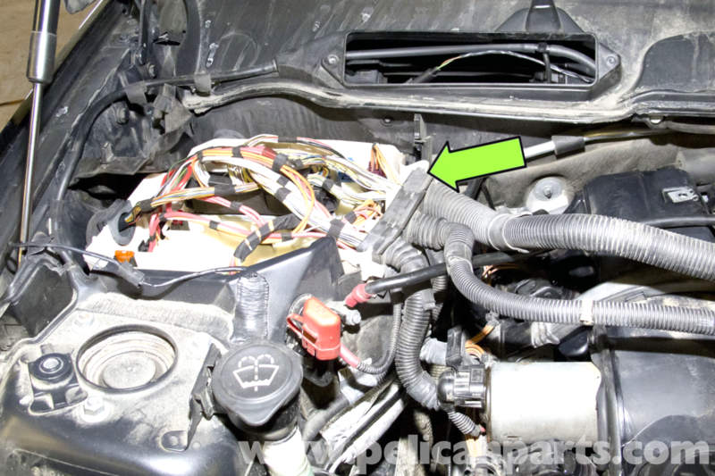 bmw e valve cover seal replacement e e e pelican pull wiring harnesses out of mount