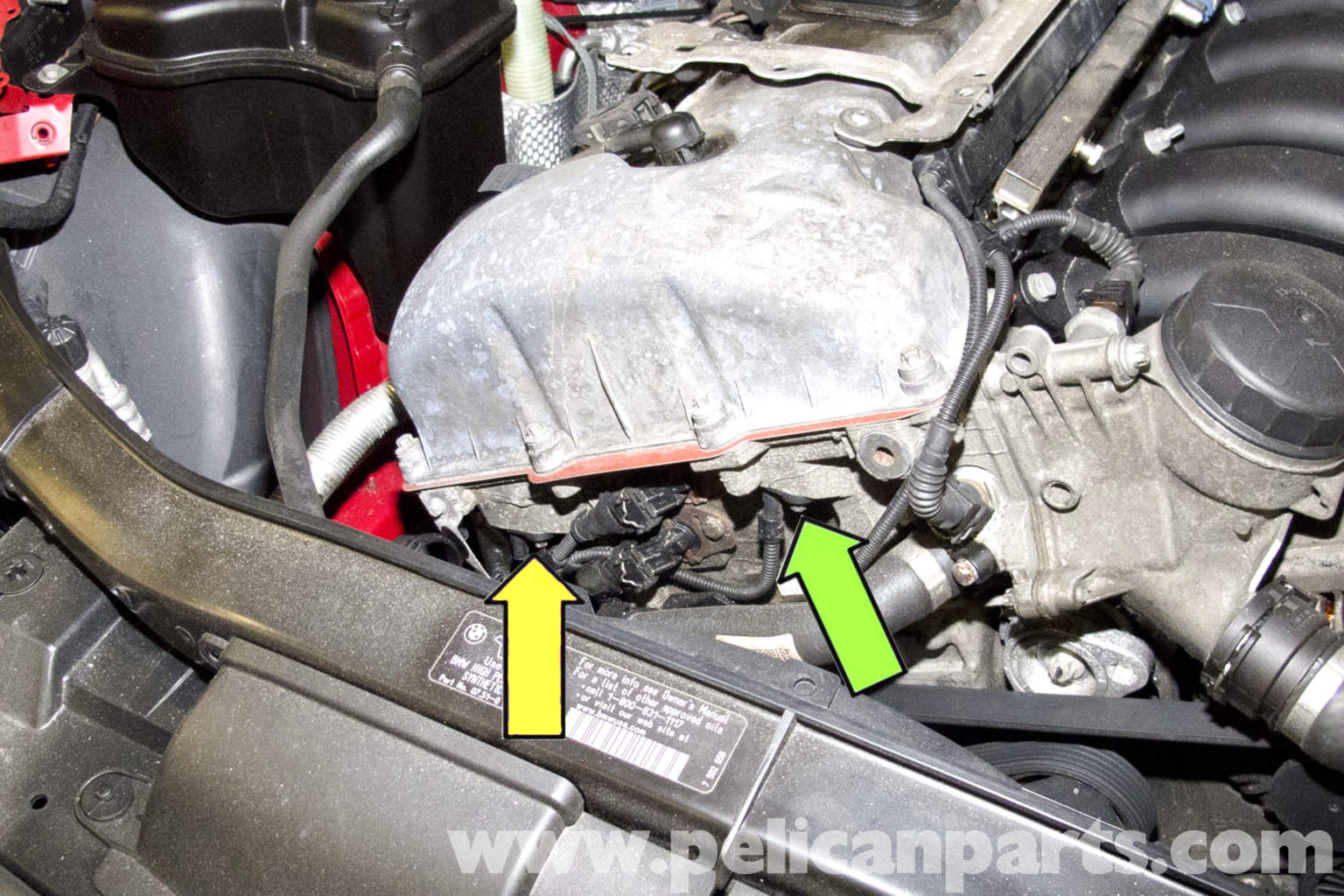 WATER Radiator Outlet Temperature Sensor Replacing in addition FUEL VANOS Solenoid Replacing likewise Cooling System Water Hoses as well 2003 Audi A4 Antenna Location besides FUEL Knock Sensor Replacement. on bmw e90 radiator replacement