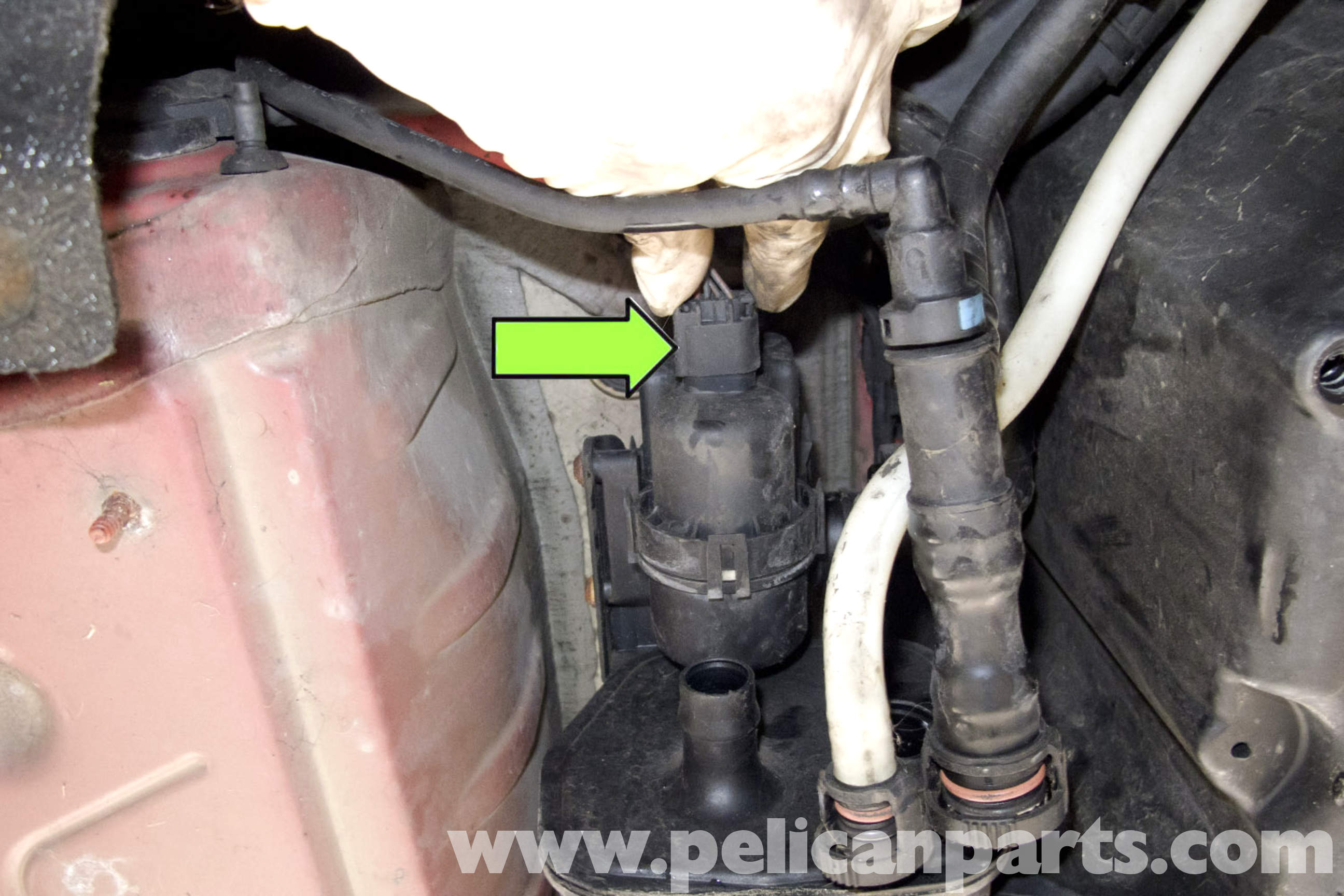 dmtl pump bmw 328i location