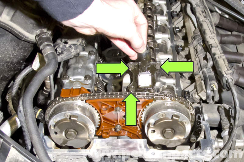 bmw e90 eccentric shaft position sensor replacement e91 e92 once all fasteners are loose remove sensor from engine