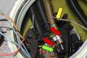 With the large upper fuel line removed, remove the top of the fuel pump module and lay it aside.