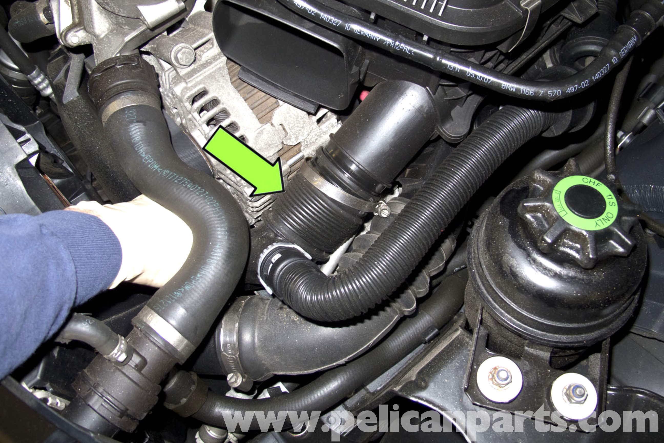 pic18 bmw e90 knock sensor replacement e91, e92, e93 pelican parts  at couponss.co