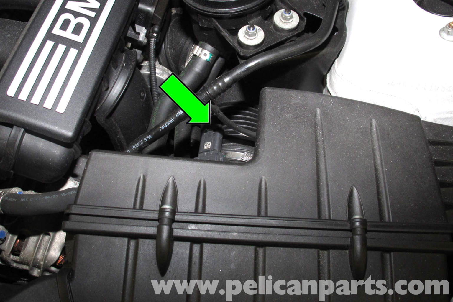 Bmw E90 Knock Sensor Replacement E91 E92 E93 Pelican Parts Diy Maintenance Article