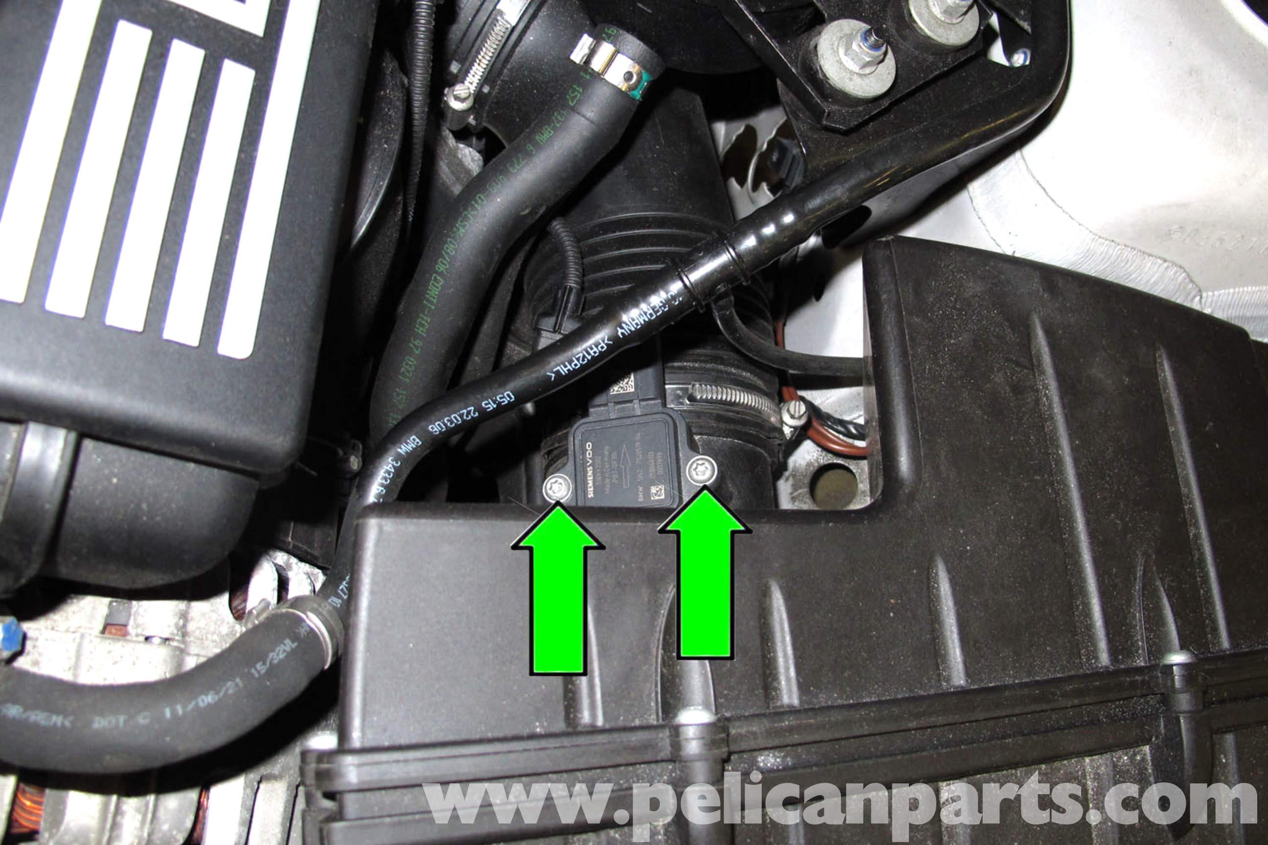 BMW E90 Mass Air Flow Sensor Replacement  E91 E92 E93  Pelican