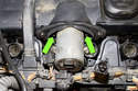 Remove two upper Valvetronic motor E8 fasteners.