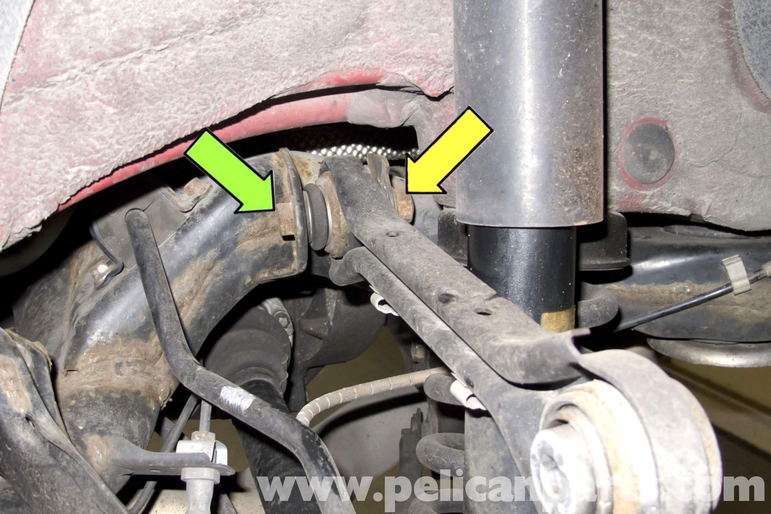 bmw e90 rear upper control arm replacement e91  e92  e93 pelican parts diy maintenance article 1969 BMW R50 1969 BMW R50