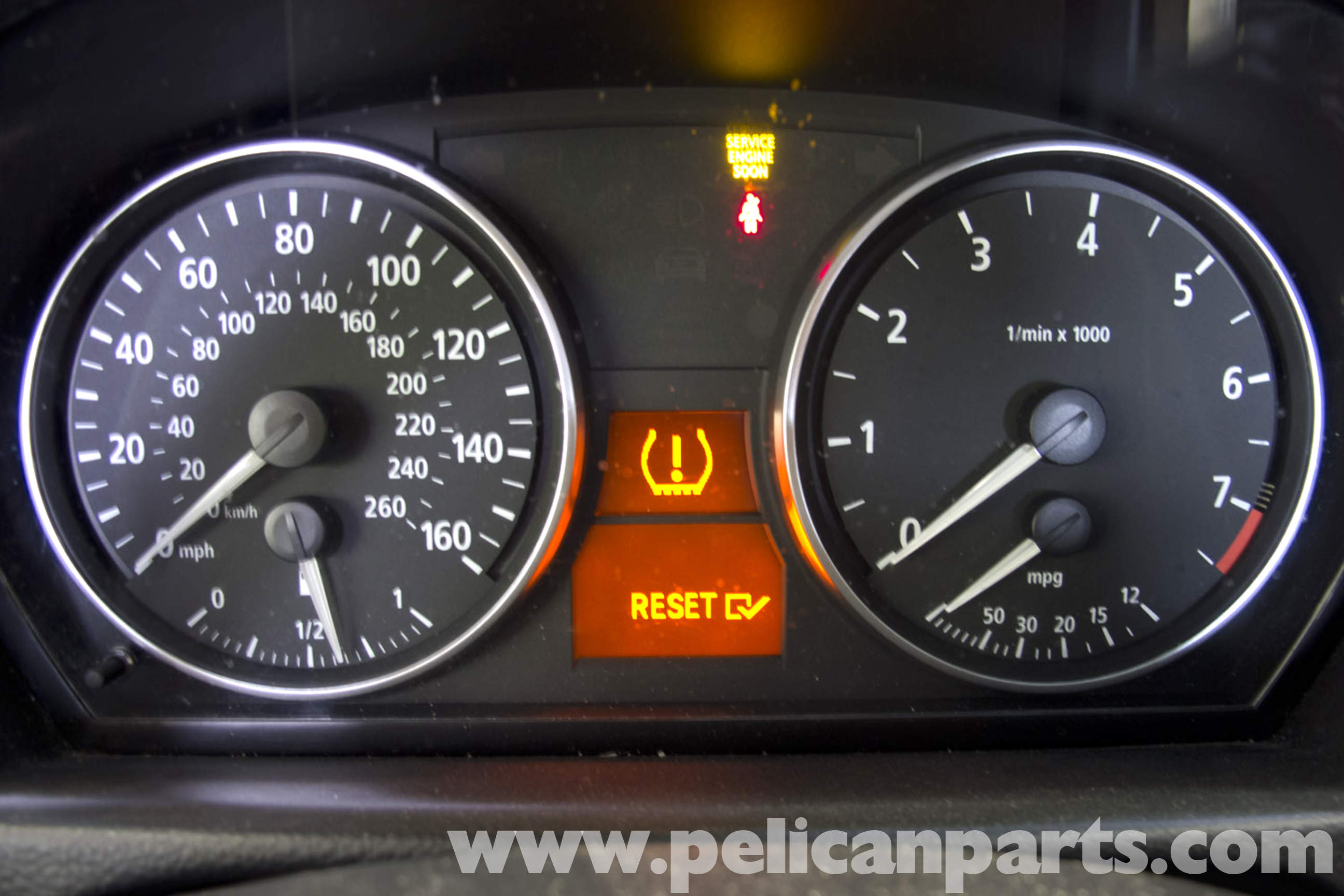 Bmw E90 Tire Pressure Warning Light Reset E91 E92 E93 Pelican Parts Diy Maintenance Article