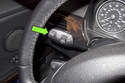 Once you get to the RESET screen, press the BC button on the end of the turn signal stalk once to select the RESET function.