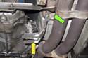 Next remove the splash shield bracket from body.