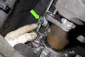 Now you have to remove the transmission brace from the transmission.