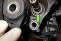 Now you can remove the 30mm nut holding the driveshaft flange to the output shaft.
