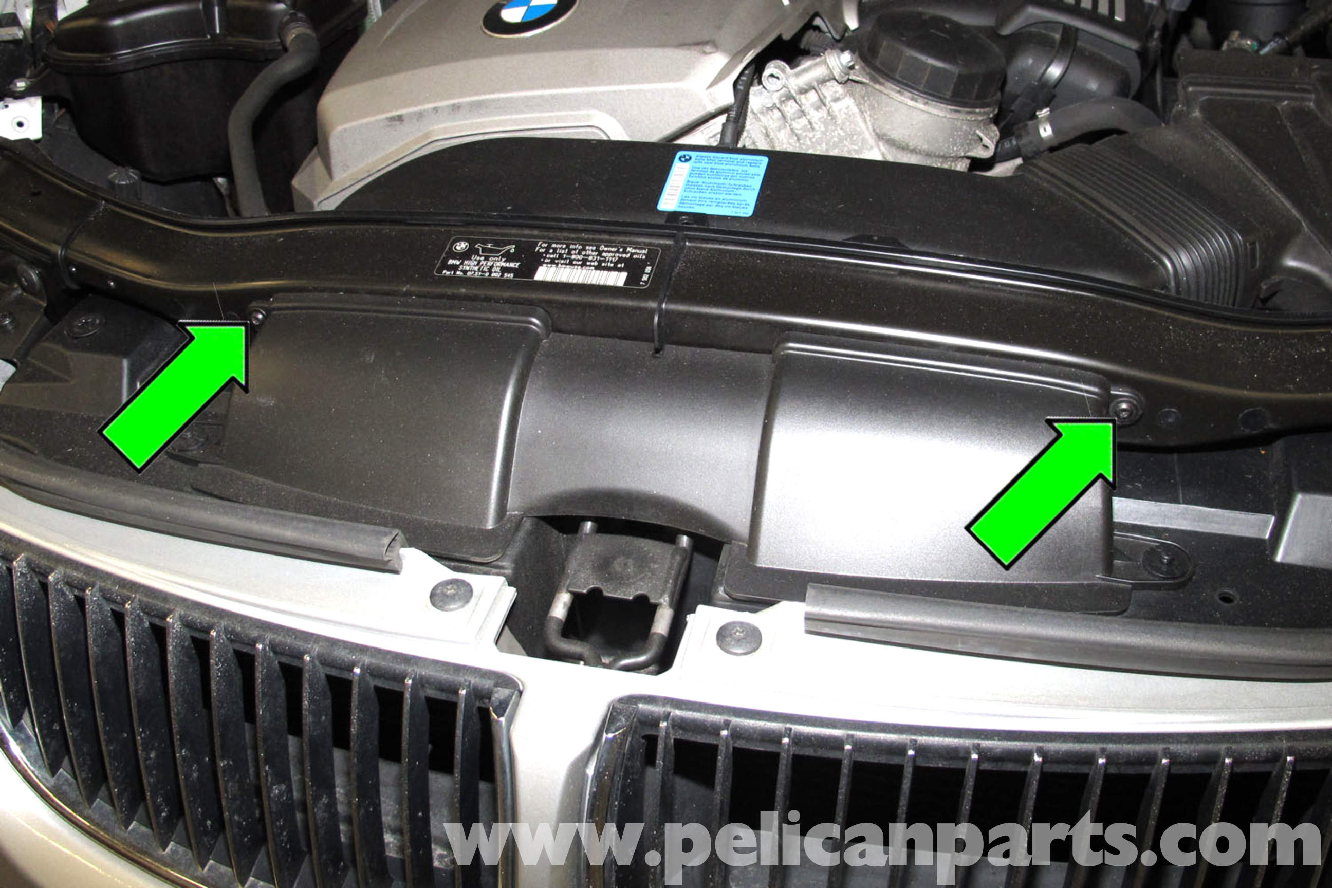 pic01 bmw e90 cooling fan replacement e91, e92, e93 pelican parts 2011 BMW E92 Fuse Box Diagram at gsmportal.co