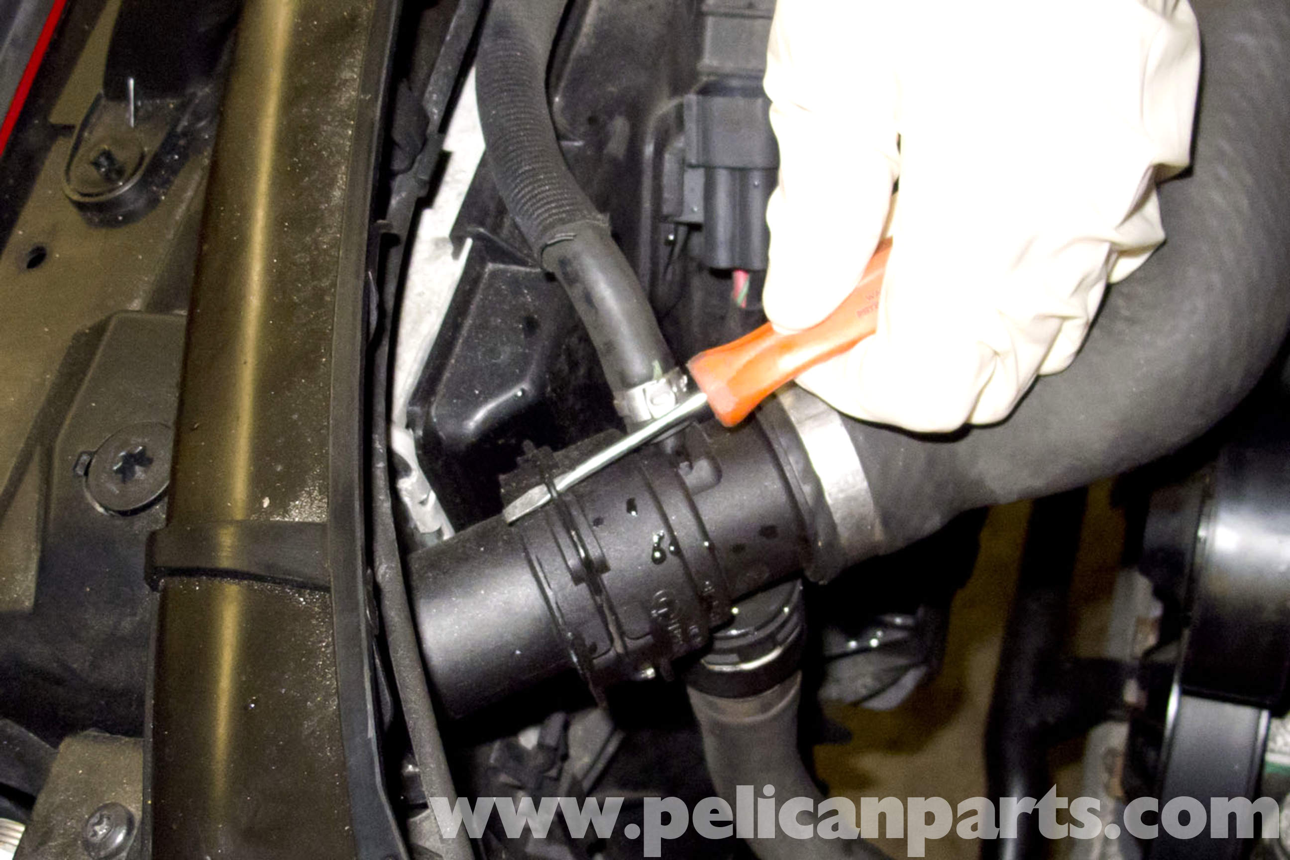 how to clean up power steering fluid spill