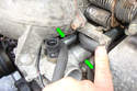 Hold the two coolant pipes in the same position while pulling off the water pump.