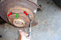 Do the same thing on the other brake shoe.
