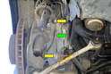 Front Wheel Bearing Removal-Remove either end of the sway bar link.