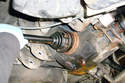 Rear Wheel Bearing-Remove the six T12 Torx fasteners that hold the inner CV joint to the axle flange on the differential.
