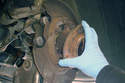 Rear Wheel Bearing-Remove the bearing assembly from the spindle.