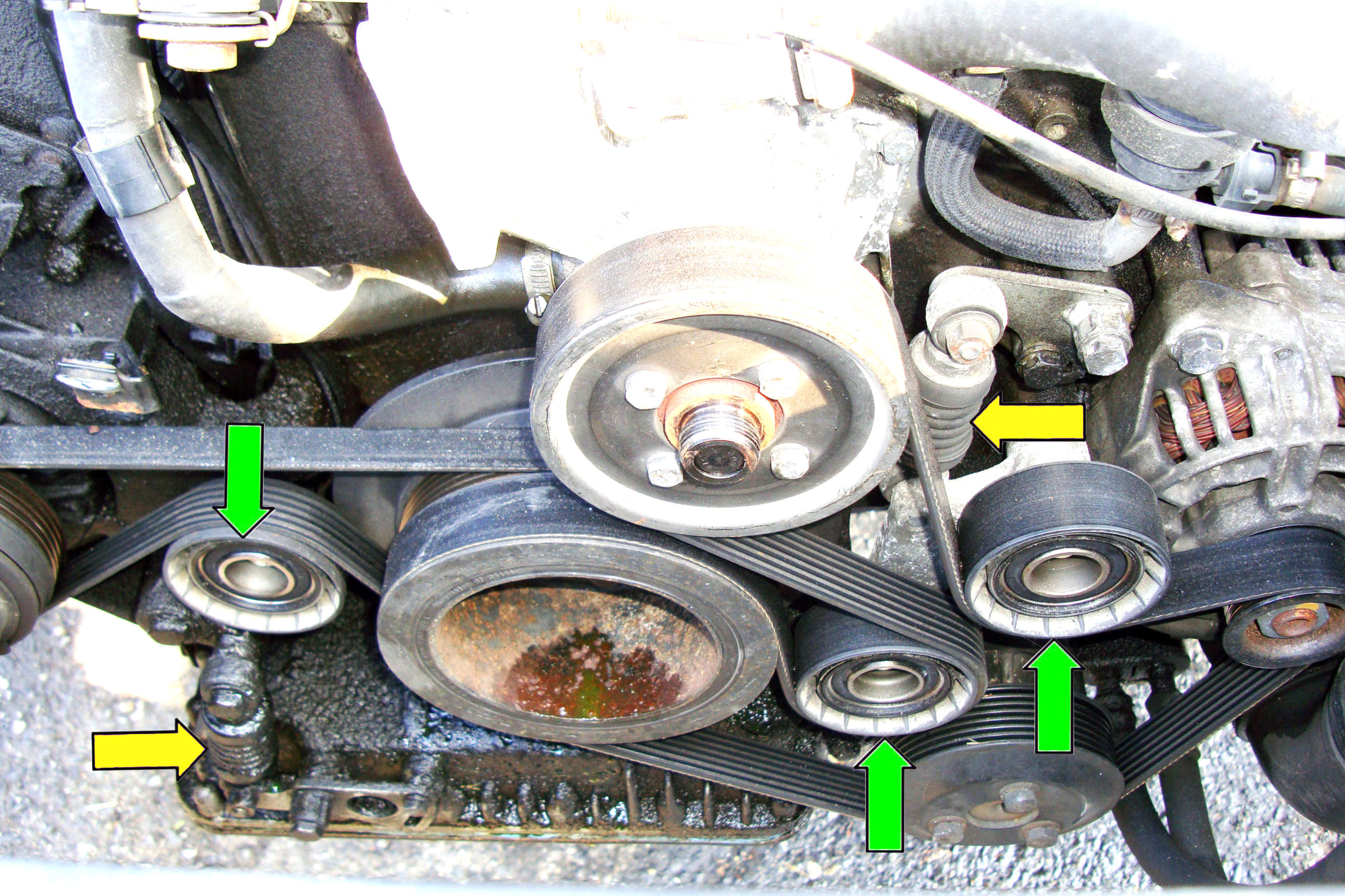 Bmw E39 540i Engine Diagram 1999 5 Series Tensioner And Pulleys Removal 1997 2003 525i Rh Pelicanparts Com 2000 528i