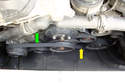 This is the accessory belt drives of a six cylinder engine.