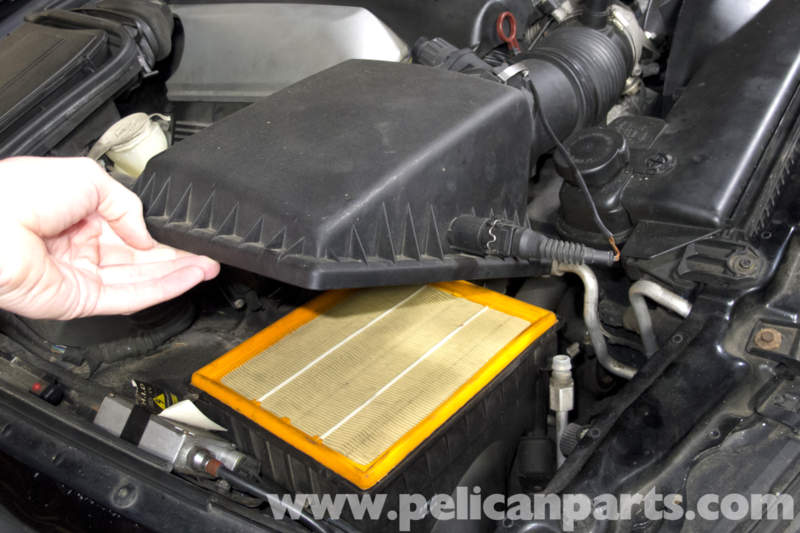 bmw e39 5 series air filter replacement 1997 2003 525i. Black Bedroom Furniture Sets. Home Design Ideas