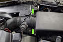 The air filter is located the air filter housing, it is mounted in the right side of the engine compartment.