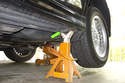 The jack pads are designed to support the vehicle from below when using a hoist, hydraulic jack, or when changing a tire in an emergency situation.