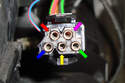 With the blower motor final stage unplugged you can see the numbers on the connector.