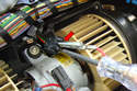 Here we are at the blower motor assembly under the dashboard cover.