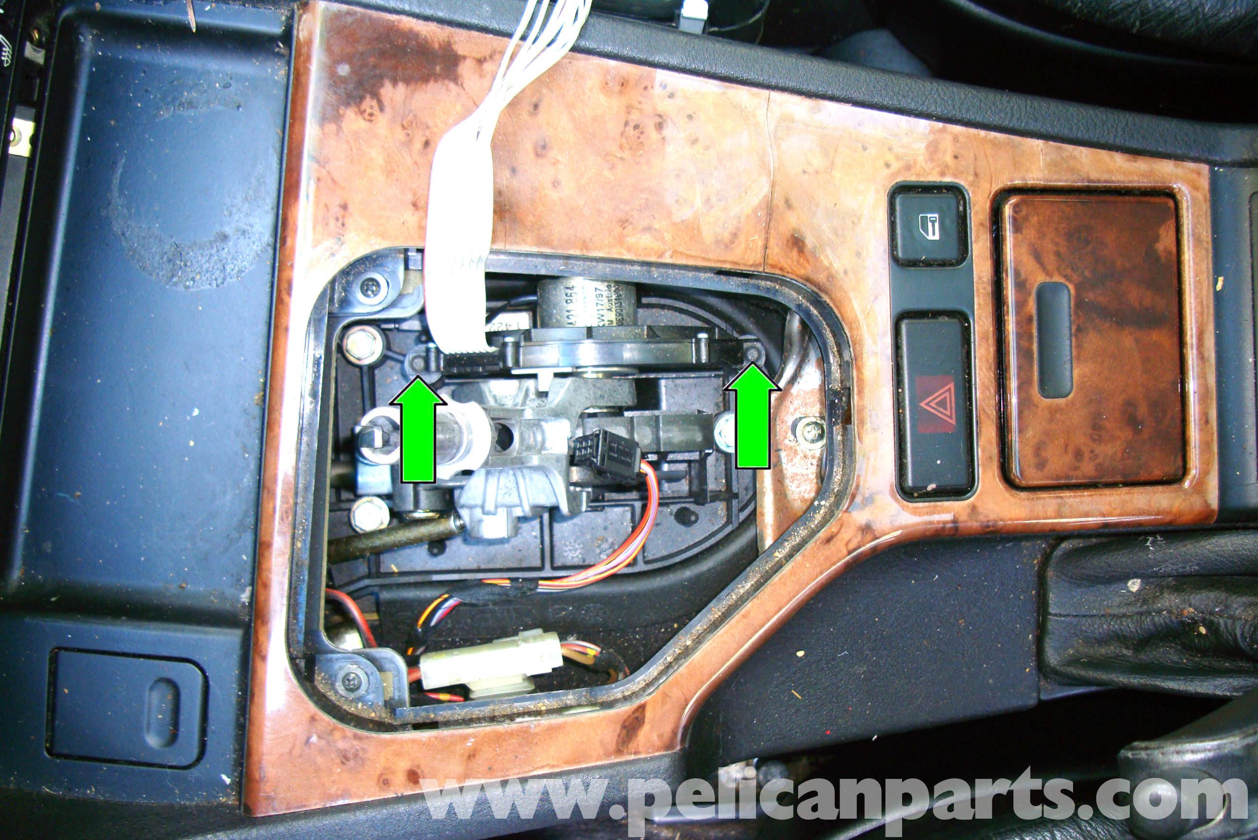 pic04 bmw e39 5 series center console removal 1997 2003 525i, 528i, 530i