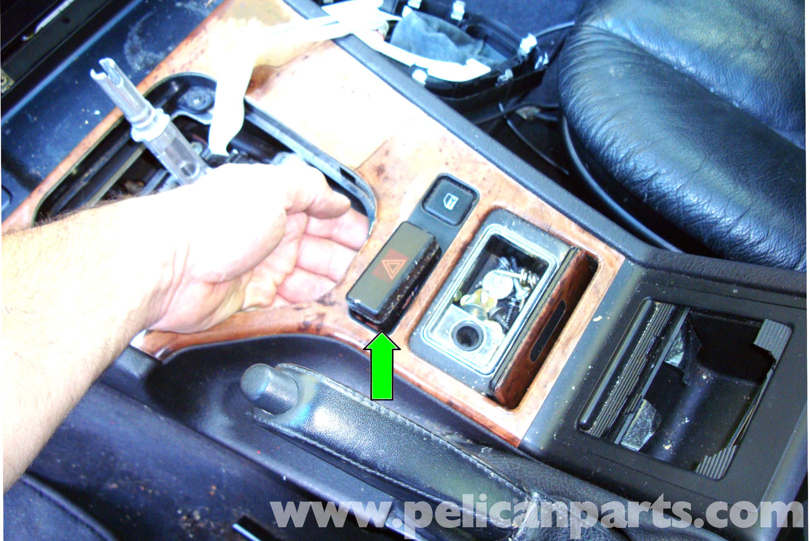 pic05 bmw e39 5 series center console removal 1997 2003 525i, 528i, 530i