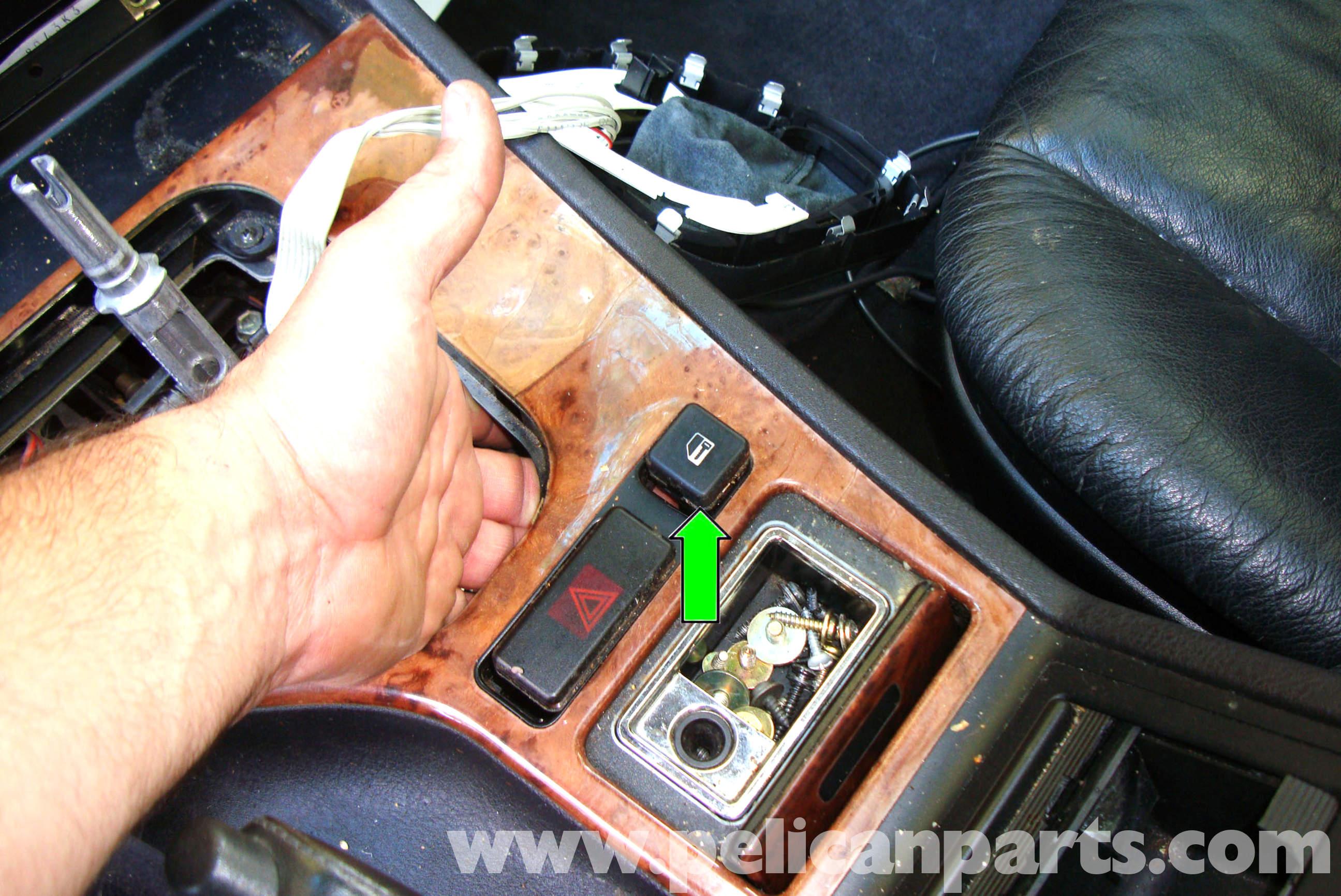 pic06 bmw e39 5 series center console removal 1997 2003 525i, 528i, 530i