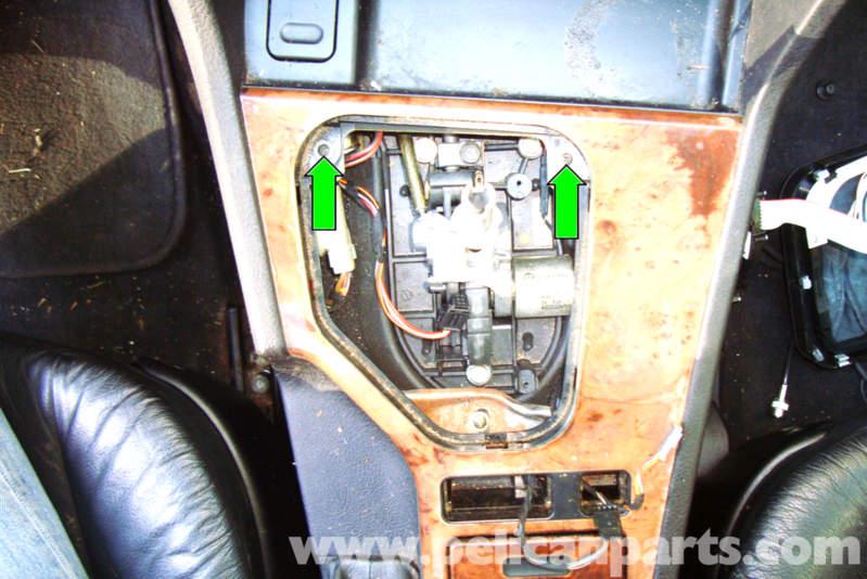 pic10 bmw e39 5 series center console removal 1997 2003 525i, 528i, 530i